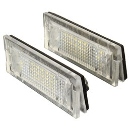 Wholesale E39 License Plate Light - 2x White LED Number License Plate Lights Lamp Fit For BMW E39 TOURING 5Door