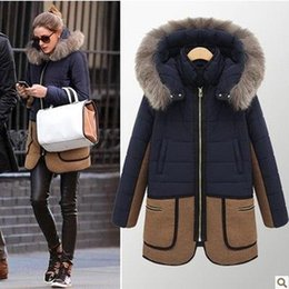 Wholesale Overcoat Hats - 2016 New Fashion Parkas Women Autumn Winter Coats Outerwear Cotton-Down Fur Thickening Coat Female Hooded Overcoat Jacket Plus Size