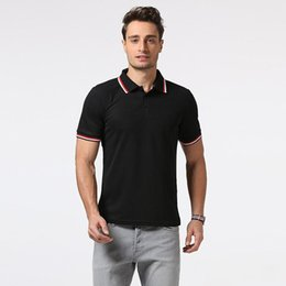 Wholesale T Shirts For Men Size - British Men Polo T-shirt Short Summer V Neck Polo For Men Casual Slim Fit Plus Size Men Running Tops J170320
