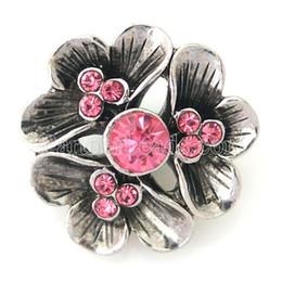 Wholesale Metal Bell Charms - DIY Noosa Fashion flower Snap button crystal Metal Noosa bracelet gift ashion DIY Charms Crystal Christmas Bell Design noosa chunk KB8788