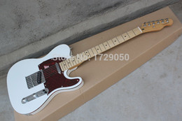 Wholesale Pick Guard Guitar - Wholesale- Chinese musical Instruments Factory custom New white telecaster guitar electric guitar red Pick Guard free shipping