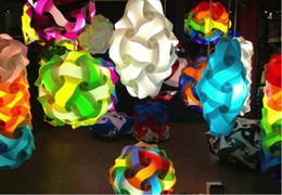 diy modern pendant ball 2018 - Novel IQ puzzle Jigsaw light personality pp lamp dining restaurant chandelier LED Child DIY Modern Pendant Wave Ball
