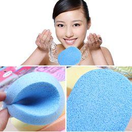 Wholesale Scrub Sponge Pad - Wholesale Price colorful 24Pcs Natural fiber Wash Face Sponge Wash Pad Makeup Cleaning Sponge Puff Exfoliator Scrub