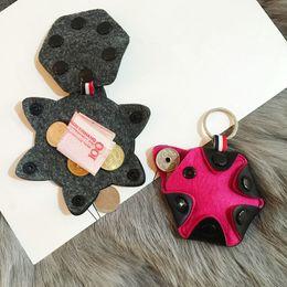 Wholesale Ring Zero - Scratch Resistant Felt Coin Purse Portable Zero Wallet Exquisite Mini Holder Decorative Key Ring Handbag Pendant for Gift