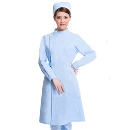 dc6d3a8b53a medical Doctor white long-sleeved dress nurse short sleeved uniform  experiment under drugstore beauty salon work 035. Supplier: partersun
