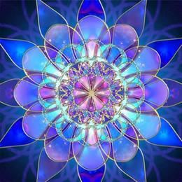 Wholesale Diy Diamonds Decoration - Mandala 100% Full Drill DIY Diamond Painting Embroidery 5D Cross Stitch Crystal Square Home Bedroom Wall Art Decoration Decor Craft Gift