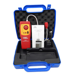Wholesale Digital Combustible Gas - Wholesale- AS8800(with box) Digital combustible gas analyzer hand-held port flammable gas Leak Detector with Sound Light Alarm+Battery