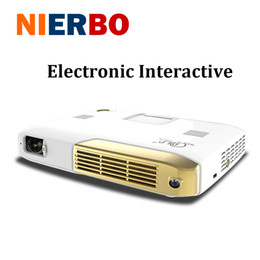 Wholesale Video Compact - Wholesale-2017 Portable Digital Projector 1080P Full HD Video Home Theater Compact Projector 2000 ANSI Lumens 15000mAh Battery with HDMI