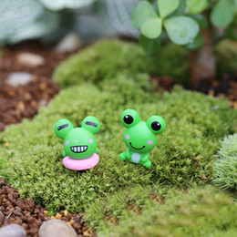 Wholesale Frog Decorations - 2017 new Factory direct moss micro-landscape cartoon ornaments small frog big eyes frog craft Decoration small ornaments