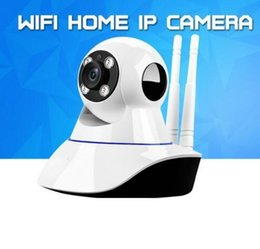 Wholesale Cctv Box Ip Camera - Home Security Wireless Mini IP Camera Surveillance Camera Wifi 720P Night Vision CCTV Camera Baby Monitor With the Retail Box