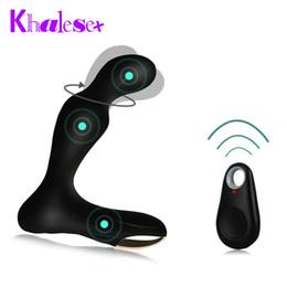 Wholesale Remote Control Anal - Sex Toys for Man Intelligent Remote Control Anal Plug Prostate Massage Anal Vibrator Stimulation Male Masturbation men Anal Toys q4201