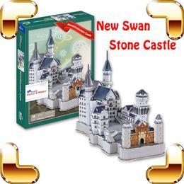 Wholesale Neuschwanstein 3d - New Year Gift Neuschwanstein Castle 3D Puzzle Model Architecture Paper Puzzle DIY Intelligence Toy Cubic Building Puzzle Toys
