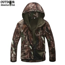 Wholesale Winter Camouflage Clothing Hunting - 2016 fashion Lurker Shark Skin SoftShell V4 Outdoors hunting Tactical Jacket Men Waterproof Windproof Coat winter jacket Camouflage Clothing