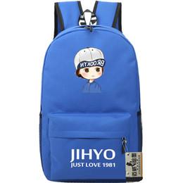 Wholesale Red Blue Song - Song Ji Hyo backpack Nice star daypack Korea Jihyo schoolbag Fans rucksack Sport school bag Outdoor day pack