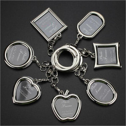 Wholesale Korean Couples Keychains - 2017 Fashion Korean version of the creative couple frame key holder personalized love key chain photo key ring jewelry wholesale