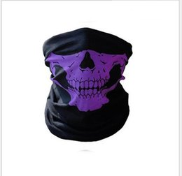 Wholesale Green Face Scary Halloween - Skull Half Face Mask Scarf Bandana Bike Motorcycle Scarves Scarf Neck Face Mask Cycling Skull scarf halloween cosplay party scary masks
