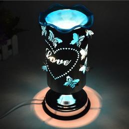 Plug In Touch Sensing Farfalla aroma Luce Regalo creativo Lampada da tavolo decorativa Fornace dell'aroma da