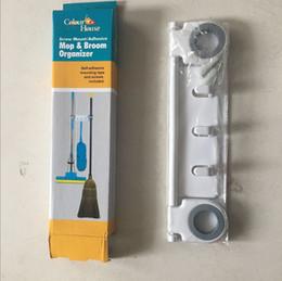 Estantes de pared ganchos online-Multifuncional Strong Seamless Mop Rack Mops Frame Racks Plataforma Ganchos para colgar en la pared Ahorre espacio Venta caliente 6 5tf J R