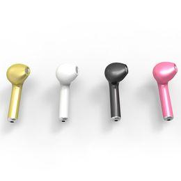 Wholesale Mini Headset Microphone - HBQ I7 Mini Bluetooth Headset Single Wireless Invisible Headphones With Microphone Stereo Bluetooth Earphone for Android iPhone