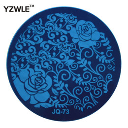 Wholesale Nail Art Stamping Stencils - Wholesale- YZWLE 1 Pcs Stamping Nail Art Image Plate, 5.6cm Stainless Steel Nail Stamping Plates Template Manicure Stencil Tools (JQ-73)