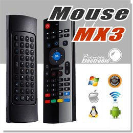 Wholesale Desktop Windows - MX3 Air Mouse Mini Wireless Keyboard for smart tv box fly mouse Multifunction 2.4G Infrared Remote Control for IPTV HTPC MAC OS PS3 Windows
