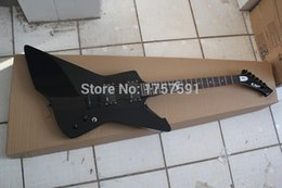 Wholesale Electric Guitar Black Emg - Hot Selling EMG pickup ESP Explore signature series SNAKEBYTE James Hetfield black Electric Guitar with 9V Active pickups