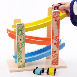 Wholesale Toy Cars Wooden Tracks - Graduation gift children track gliding car early education puzzle children wooden toys infant art aids wholesale