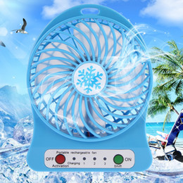 Wholesale Fan Cables - Portable Rechargeable Mini Desk USB LED Light Fan Air Cooler With USB Charging Cable LED Multifunctional Fan