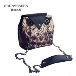 Wholesale Pocket Chains For Sale - Wholesale- Hot Sale! New 2016 Female handbag Chain Cartoon 3D Animal Print Shoulder Crossbody Bag owl Shape Women fashion Handbag for Girls