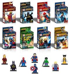 Wholesale Super Hero Mini Toys - 8pcs set mini figures toy the avengers figuers toy super hero figure the avengers mini action figure toy free shipping