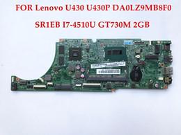 Wholesale Geforce Intel - High quality DA0LZ9MB8F0 for Lenovo U430 U430P laptop motherboard SR1EB I7-4510U NVIDIA GeForce GT730M 2GB DDR3 Fully tested