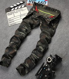 Wholesale Military Jeans - Camouflage Pencil Pants Mens Autumn Fall Military Army Style Casual Jeans Long Trousers Free Shipping