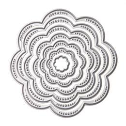 Wholesale Flowers Scrapbook - 7Pcs Set Flower Circles Metal Cutting Dies Stencils DIY Scrapbook Embossing Album Paper Card Craft