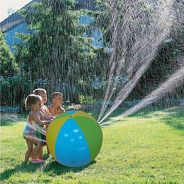 Wholesale Mix Wholesale Inflatable - Mixed Color Inflatable Beach Water Ball Outdoor Sprinkler Summer Inflatable Water Spray Balloon Outdoors Play In The Water Beach Ball3010003
