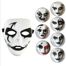Wholesale Volto Masks Dance - free delivery Halloween Mask Ghost Step Dance Mask Exquisite hand-painted hip-hop Street Dance Mask PVC Environmental Protection Material