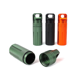 Wholesale Tools Box Equipment - Survival Waterproof Pill bottle Match Case Box Container w Outdoor Gear Camping Hiking Emergency Tool Camping Equipment