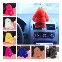 Wholesale Toy Car Backpack - Rabbit Pendant Key Chain Stuffed Animal Fur Car Backpack Furs Plush Toys Pendant Cute Fashion Toys Lovely Wallet Handbag Pendant CB122