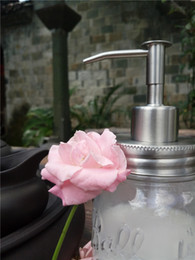 Wholesale Lotion Pumps Mason Jar - Premium Rust Resistant 304 Stainless Steel Mason Jar Soap Pump   Lotion Dispenser Kit by Premium Home Quality Regular Mouth 100 SETS HY-02