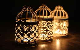Wholesale Vintage Candlestick Holders - Valentine's Day Romantic Necessity Decorative Moroccan Lantern Votive Candle Holder Hanging Lantern Vintage Candlesticks HOT