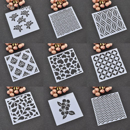 Wholesale Paper Crafts Templates - Wholesale- New Plastic Layering Stencils Template DIY Paper Card Scrapbooking Photo Album Diary Hand Craft