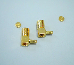 Wholesale Smb Adapter Connector - 10pcs\Lot Gold Plated Brass SMB Female Right Angle RF Connector for RG316 RG174 100 Coaxial Cable