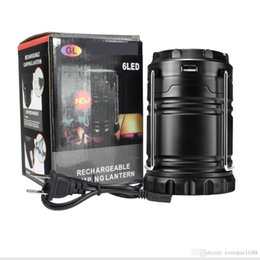 Wholesale Dhl Lantern - Great Outdoor Lantern Camping Portable Solar Lamp tent light Rechargeable Emergency use with USB port for android phones DHL free Shipping