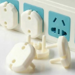 Wholesale Electric Socket Protection - 2 Hole Sockets Cover Plugs Baby Electric Sockets Outlet Plug Kids Electrical Safety Protector Sockets Protection Caps