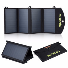Wholesale solar charger fold - Suaoki 25W Solar Panels Portable Folding Foldable Waterproof Solar Panel Charger Power Bank for Phone Battery Charger