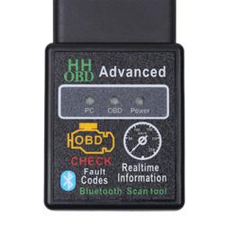 Wholesale Vag Obd2 Bluetooth - Mini ELM327 V2.1 Bluetooth HH OBD Advanced OBDII OBD2 ELM 327 Car Diagnostic Scanner code reader scan tool hot selling