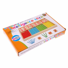 Wholesale Early Learning - Wholesale- Children Wooden Mathematics Puzzle Toy Kid Educational Number Math Calculate Game Toys Early Learning Counting Material for Kids