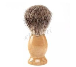 Wholesale Wood Shave Brush Handle - Pure Badger Hair Shaving Brush Shave Beard Brushes with Natural Wood Handle for Mens Face Beard Cleaning Tool MYY