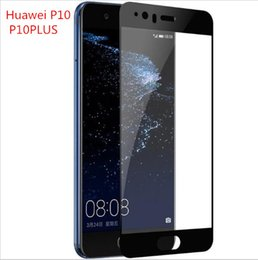 Wholesale Black Tint Film - 9H For Huawei p10 plus glass tempered Huawei p10 lite screen protector film full cover black Huawei p10 plus tempered glass