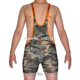 homens do exército Desconto Atacado-Camuflagem dos homens Único Top Colete Macio Trecho Bodysuit Exército Masculino Forte Sexy Undershirt Original