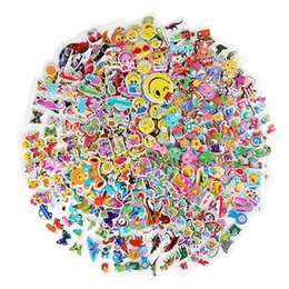 Wholesale Wholesale Decal Stickers For Macbook - 12 Sheets Mixed colorful 3D Carton Bubble Sticker Puffy sticker for Kids Present Various Cartoon Stickers Car Stickerbombing Macbook Decals